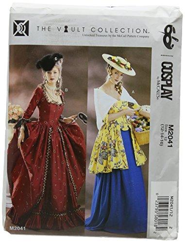 McCall's Patterns MCC 2041 HIST Costumes McCall's M2041 12-16 Schnittmuster für Damen Cosplay mit Knochen Miederrock und Schal 2 - Mccalls Patterns Kostüm Historische