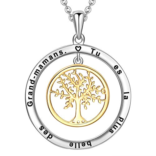 LOVORDS Collier Femme...