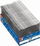 Mediapack CD-/ DVD Hülle Ultra-Slim Case, transparent/schwarz