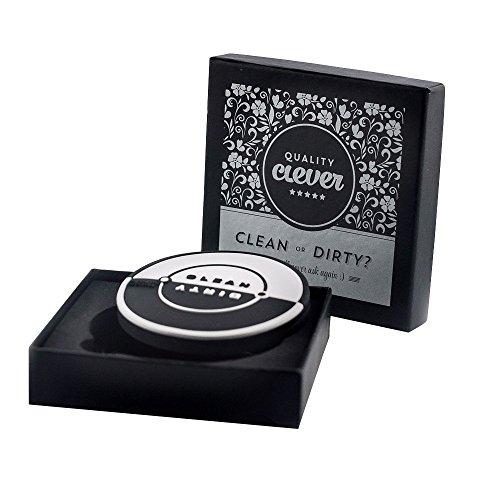 Quality Clever Qualität clevere magnetische Geschirrspüler Sauber/schmutzig Schild mit Flaschenöffner, 2,75 Zoll Baujahr, Schwarz/Weiß zu Jedem Dekor Passen - Boden Fegen Magnet