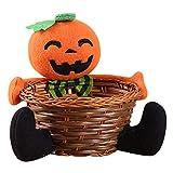 Rokoy Decorazioni di Halloween per Bambini Cestino di Caramelle Cesto di Frutta, Decorazioni per la casa Tessuti a Mano, Soggiorno Decorazione del Desktop