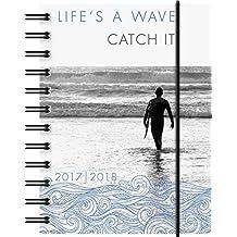 Brunnen 1072915068 Schülerkalender Wave (1 Tag in 1 Seite, August 2017 bis Juli 2018)