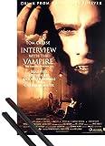 1art1 Poster + Hanger: Interview mit Einem Vampir Poster (98x68 cm) Tom Cruise - Brad Pitt Inklusive EIN Paar Posterleisten, Schwarz