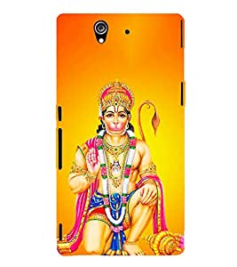 FUSON Lod Maruti With Shree Ram 3D Hard Polycarbonate Designer Back Case Cover for Sony Xperia Z :: Sony Xperia ZC6603 :: Sony Xperia Z L36h C6602 :: Sony Xperia Z LTE, Sony Xperia Z HSPA+