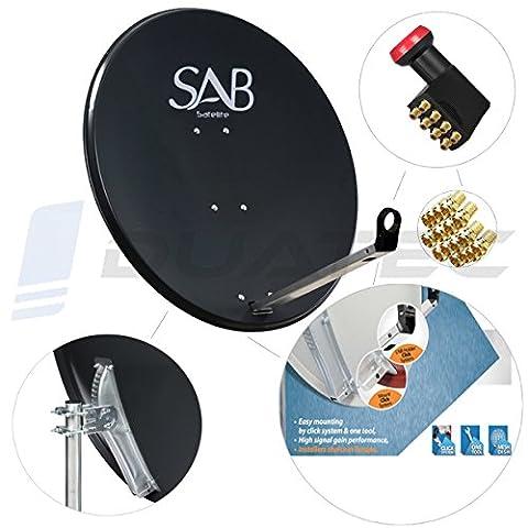 SAB wie Octagon SAT Schüssel 120cm Spiegel Antenne Anlage + Octo LNB 8Teilnehmer
