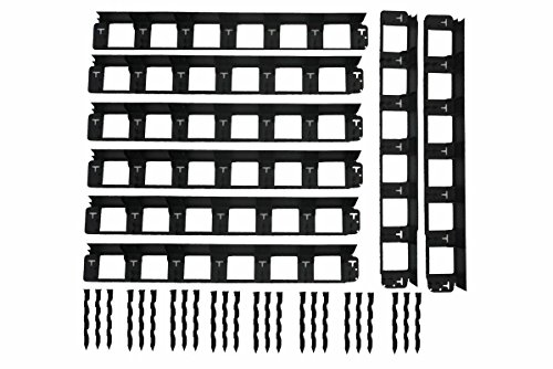 8,7m SHS Rasenkanten 40mm Beeteinfassung Mähkante Beetumrandung Raseneinfassung Plattenhalter Schiene Pave Edge Rasenkante