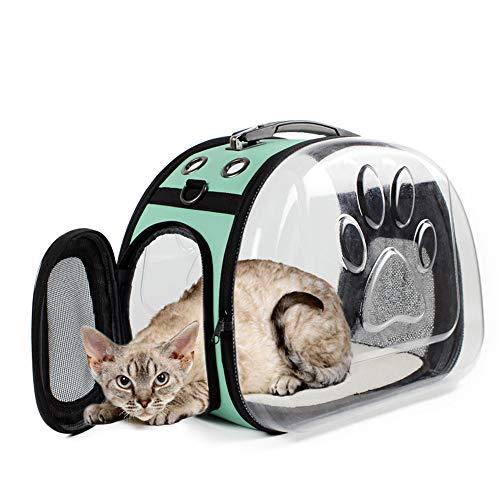 FXJCWB Zugelassene Hundehandtasche mit Airline-Zulassung, Puupy Pet Carrier Fronttasche mit atmungsaktivem Kopf-Out-Design und doppelter Mesh-Schulter gepolstert für Reisen im Freien (Color : A) -