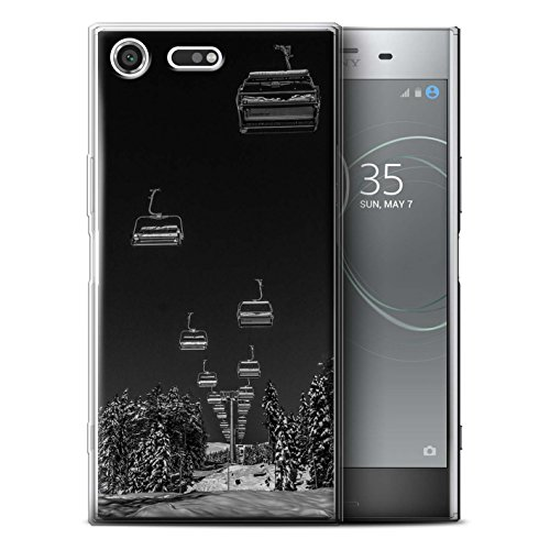 Premium-aufzug (Stuff4® Gel TPU Hülle/Case für Sony Xperia XZ Premium/Ski Aufzug Muster/Skifahren/Snowboard Kollektion)