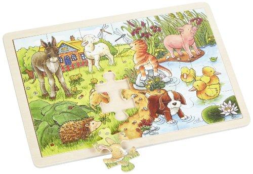 Imagen principal de Goki 57890  - Insertar piezas de puzzle Animal Kids II, 24 partes