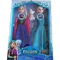 Frozen Elsa ve Anna 30cm, Olaflı Müzikli Set