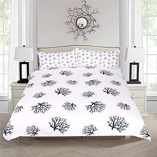 YUNSW 3D Digitaldruck Blumen Bettbezug Kissenbezug Einzel Doppelbett Voll Königin King Size Bettwäsche Set B 140x210cm / 55x83in -
