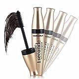 SMILEQ 3D Fiber Mascara Lange Schwarze Wimpern Wimpernverlängerung Wasserdichtes Augen Make-Up Werkzeug (1 Pcs, Schwarz)