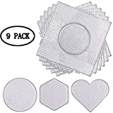 KAIMENG Tableros de los Granos del Fusible, Tableros de plástico, Abalorios artesanales para niños (9 Piezas - 5 mm)