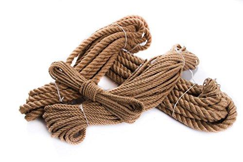 Juteseil Hanfseil Naturhanf Hanf Tau Tauwerk Handlauf Seil alle Stärken (Stärke: 50 mm, 15 Meter)