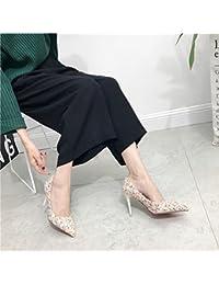 Las Puntas de Pelo de Lana de Color de Moda Golpean Bien con Zapatos de Zapatos Altos , blanco , EUR34.5