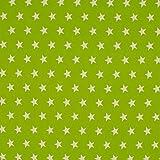 Baumwoll-Popeline - Sterne - lime/weiß