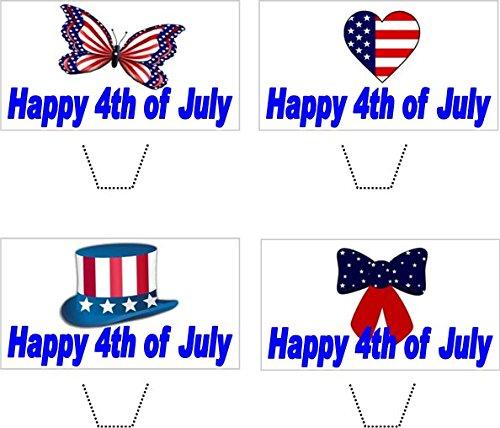 amerikanischen Unabhängigkeitstag mischen essbaren aufstehen Wafer Papier kuchen deckel (4. Juli Dekoration)