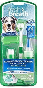 Clean Fresh Breath Oral Care Kit Brushing Gel Tripleflex Toothbrush Dog Small