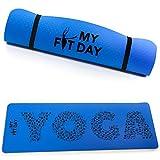 My Fit Day Tapis de Yoga Premium Fait en TPE | Taille XL 183x61x0,5cm | Non Toxique | Ultra-résistant | Léger | Optimisé pour la Pratique du Yoga | Anti-dérapant | Sangle d'Attache et de Transport