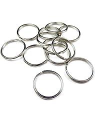 Distinct® 20pcs Metal Loop en acier anneau porte-clés porte-anneau