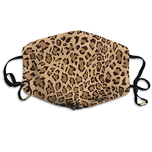 Animal Leopard Print Face Mouth Mask Unisex Polyester Comfy Anti Dust Masks Animal Print Tube