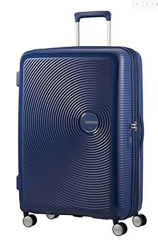 American Tourister - Soundbox Spinner Extensible, 77cm, 97/110 L - 4.2 KG, Bleu (Midnight Navy)