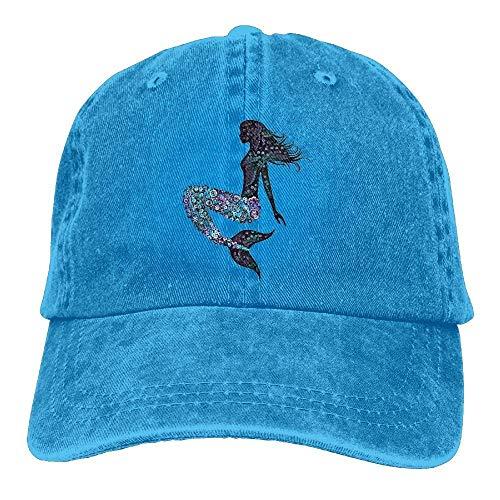 Men Women Classic Denim Beautiful Mermaid Adjustable Baseball Cap Dad Hat Low Profile Perfect for Outdoor -