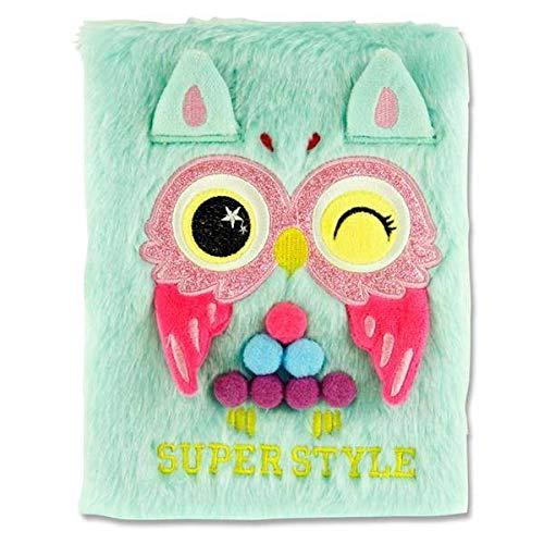 Stitch Premier Emotionery A5 128pg en Peluche Fluffy Ordinateur Portable - Chouette Super Style
