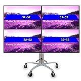 Xue Universal TV Stand, TV Cart pour 32-55 inch Écran LCD Quatre Téléviseurs À La Maison Bureau Chambre Salle De Réunion Séance Vidéo Appel...