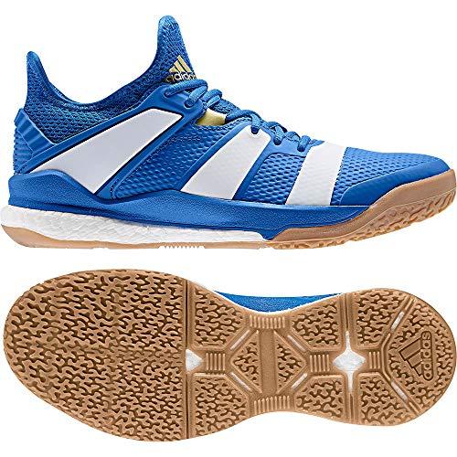 adidas Herren Handballschuhe Stabil X Blue/Off White/Gold met. 46