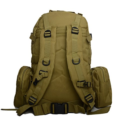 Zaino da trekking campeggio zaino borse zaini outdoor sports, Army Green Khaki