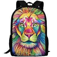 Deglogse School Backpack, Schoolbag Travel Bookbag, Girls Watercolor Lion King Painting Art Travel School Computer Daypack Backpacks