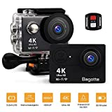 Sport Action Cam,Bagotte Action Camera 4K Ultra FHD 12MP 170° weiter Winkel Unterwasserkamera mit...