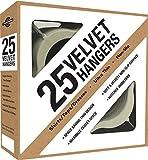 Set of 25 , Ivory : Closet Complete Premium Heavyweight, Velvet Shirt Hangers – Ultra-Thin, Space Saving, No-Slip, Best For Shirts & Dresses - Ivory, Set of 25