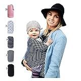 Fastique Kids® Babytragetuch - elastisches Tragetuch für Früh- und Neugeborene Kleinkinder - inkl. Baby Wrap Carrier Anleitung - Farbe gestreift