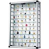 Pureday Vetrina Collezione in alluminio e vetro richiudibile 60 x 94cm