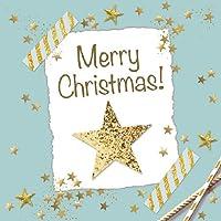ambiente Servilletas de papel–Servilletas Almuerzo/Fiesta/aprox. 33x 33cm Starry X-Mas–Green–Ideal como regalo de Navidad–Estrella y mesa de decoración