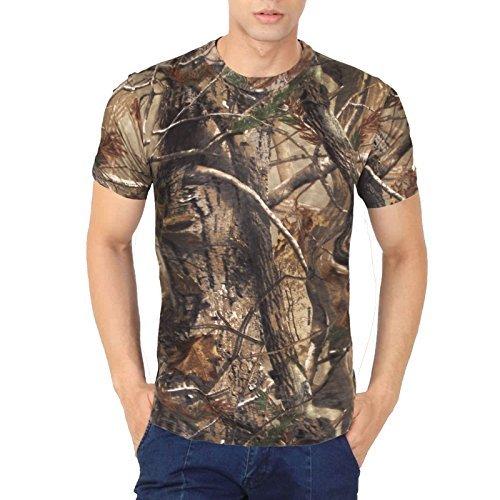 Herren Echt Dschungel Baum Print T-Shirts Sommer camouflage camo für große Jagd TOP S M L XL 2X L 3X L 4X L 5X L Gr. XXXXL, Jungle Print (T-shirt Großes 3x)