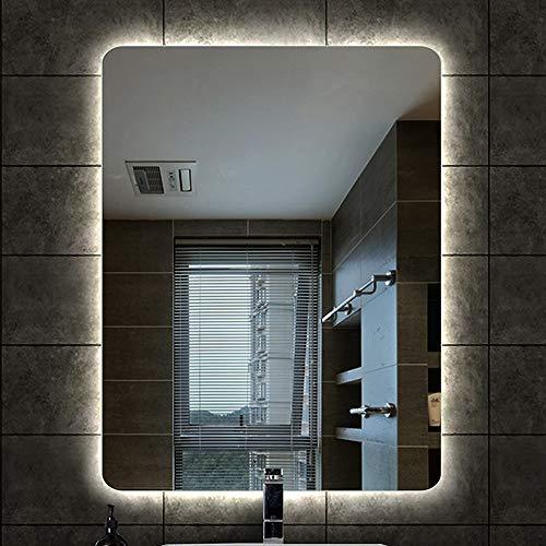 Espejo Con Luz LED - Rectángulo Baño Maquillarse HD Aumento Lente De Seguridad A Prueba De Explosión...