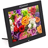 XElectron® 15 inch LED Digital Photo Frame/Video Frame with 1280×720, 720P Support Resolution, Plays Images, Video & Music, USB/SD Card Slot, with Remote (Black)