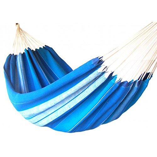 Kottle ext/érieur doux en coton tissu hamac br/ésilien Double largeur 2 personne voyage Camping hamac Bleu