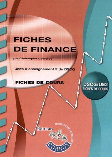 Fiches de Finance - Unité d'enseignement 2 du DSCG - Fiches de cours.