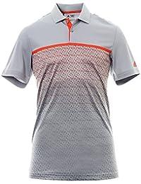 adidas climachill Gradient Stripe T-shirt Polo de Golf Homme L rose