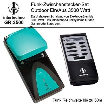 Intertechno Funksteckdose Set Outdoor 3500W.wetterfest GR-3500 Ein-Aus von Intertechno auf Lampenhans.de