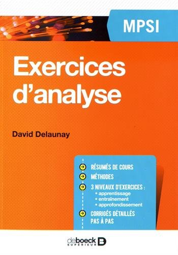 Exercices d'analyse MPSI