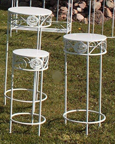 Linoows Romantique Jardinières Set Rose, Jardinières Blanc,Lot de 3
