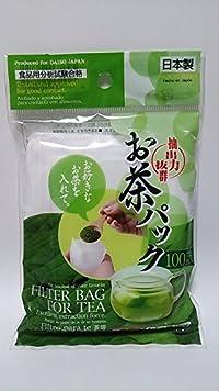 Daiso Japan Loose Tea Filter Bag, 3.7x2.8inch (100pcs)