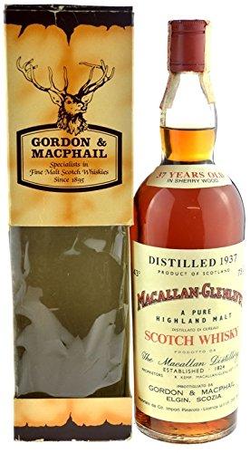 Macallan-Glenlivet Jahrgang 1937 - mit Geschenkpackung - A Pure Highland Malt Scotch Whisky