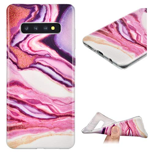 KuKiMa TPU Telefonkasten Kompatibel für Samsung Galaxy s10 Plus | Marmor Textur Muster Bemalte Anti-Rutsch Dauerhaft Stoßfest Silikon Transparent Hülle für Samsung Galaxy s10 Plus, Stil 05 -