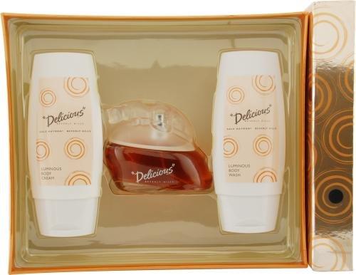 Delicious-by-Gale-Hayman-for-Women-Set-Eau-De-Toilette-Spray-33-Ounces-Body-Cream-33-Ounces-Shower-Gel-33-Ounces